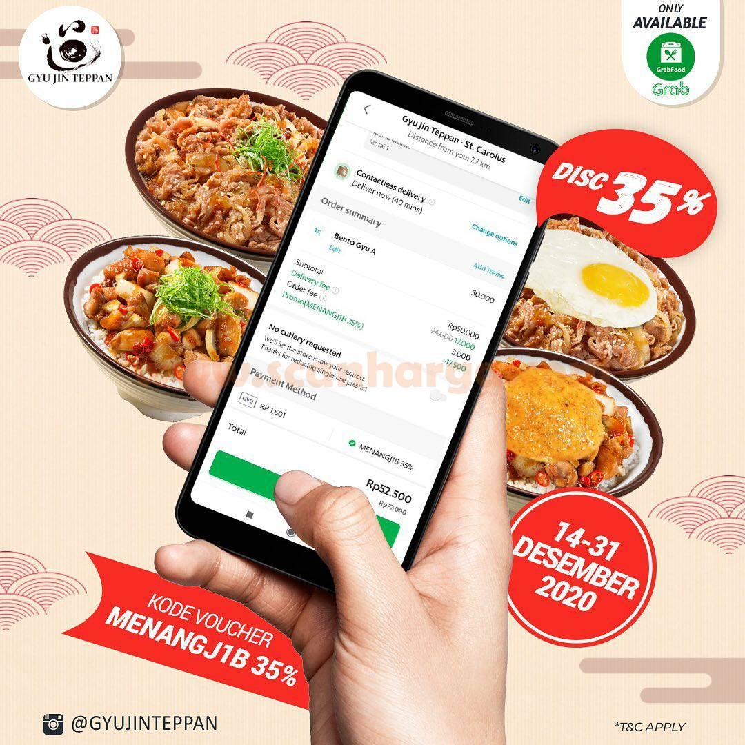 Gyu Jin Teppan Promo Diskon 35% khusus pesan via Grabfood