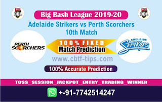 Who will win Today BBL T20, 10th Match Perth vs Adelaide - Cricfrog