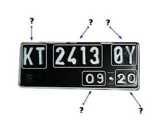 Makna kombinasi huruf dan angka pada plat nomor kendaraan