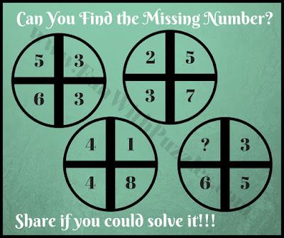 Mind twisting math cross circle picture puzzle