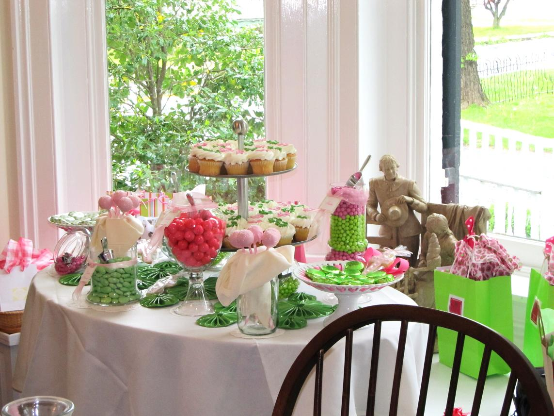 Maryland Pink and Green: Pink and Green Candy Buffet