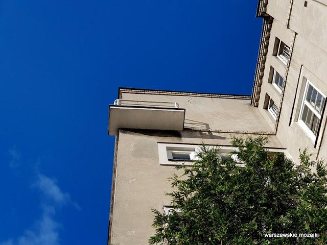 balkon Warszawa Warsaw kamienica architektura architecture Ochota Dom Spółdzielni Mieszkaniowej profesorów Wolnej Wszechnicy Polskiej Marcin Weinfeld lata 30 szara cegła