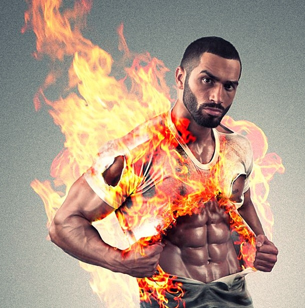 Lazar Angelov on Fire