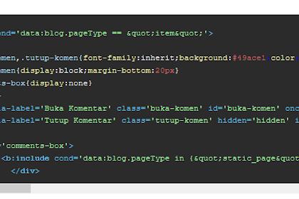 Cara Memasang Kotak Pembungkus Kode (Syntax Highlighter) pada Blogspot