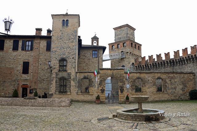 Plaza de Vigoleno, Piacenza, Italia
