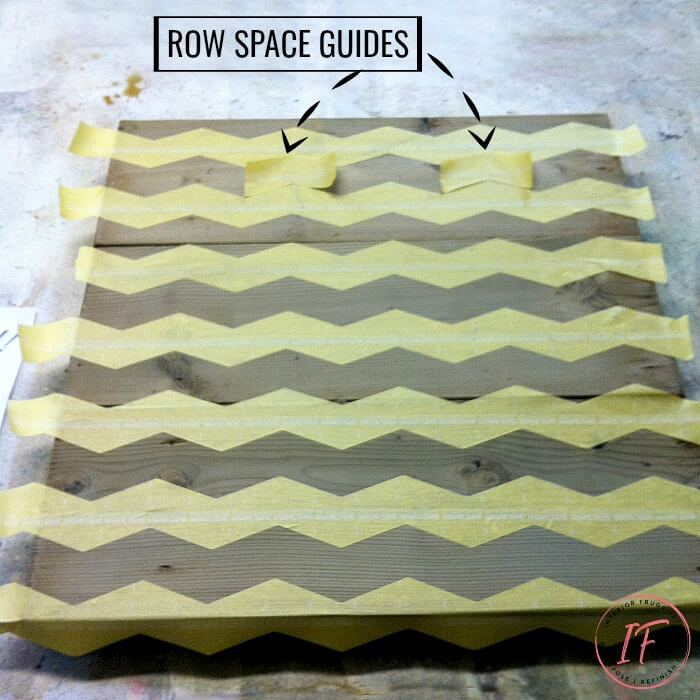 DIY Wood Plank Wall Art Chevron Stripes