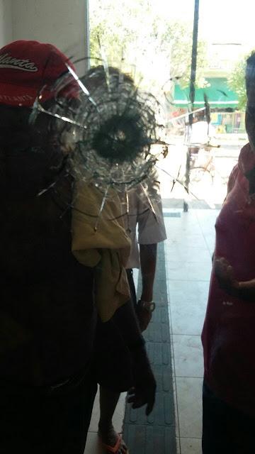 Bandidos atiram em Casa Lotérica durante assalto no Bairro Areal.