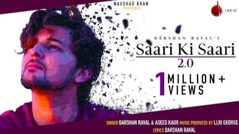 Saari Ki Saari 2.0 Lyrics in Hindi and English, Darshan Raval, Asees Kaur