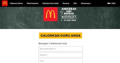 Calonkan Guru Inspirasi McDonald's Anda!