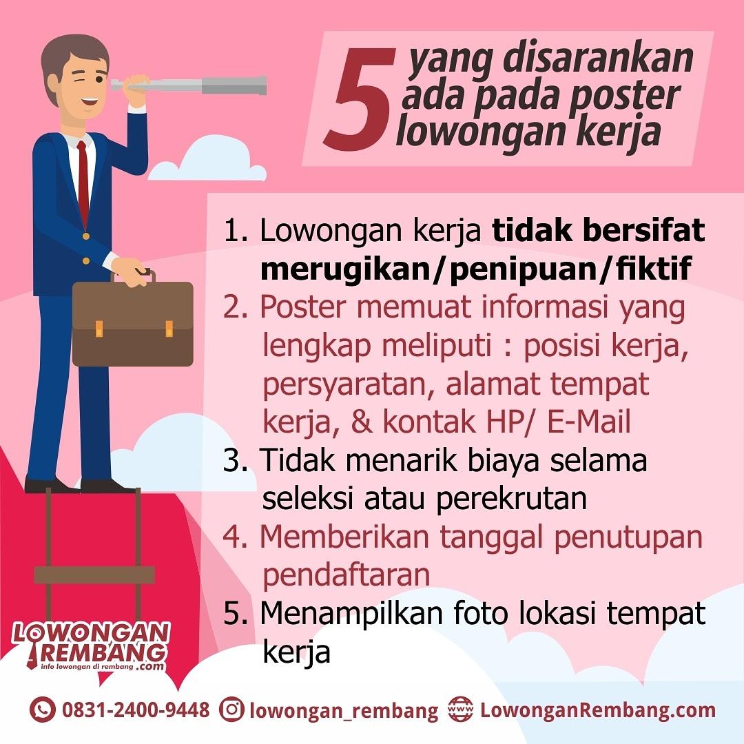 5 Yang Disarankan Ada Pada Poster Lowongan Kerja Rembang