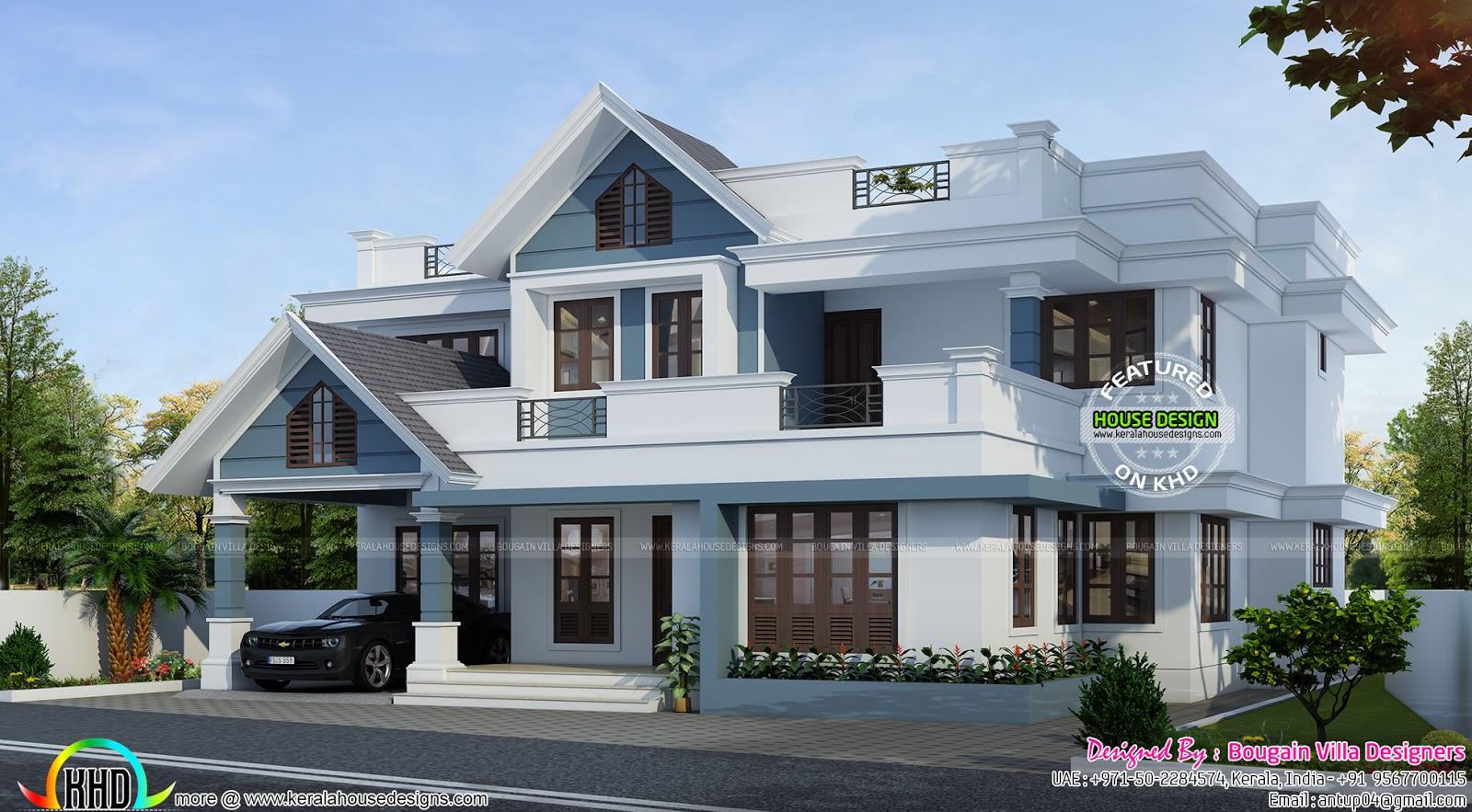 January 2016 kerala home design and floor plans for House slab design