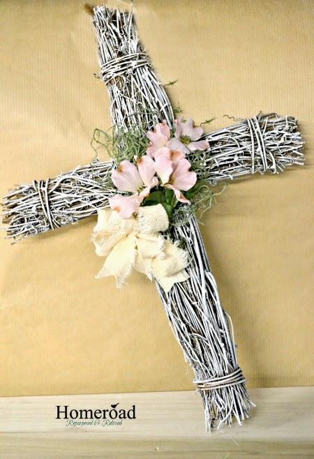 Grapevine Easter Cross Wreath www.homeroad.net