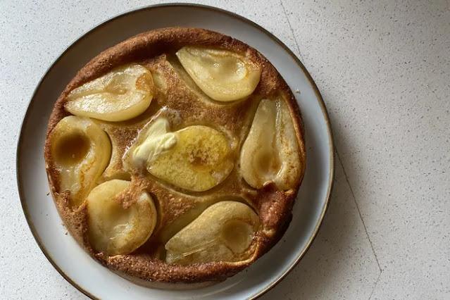 Sourdough pear pancakes