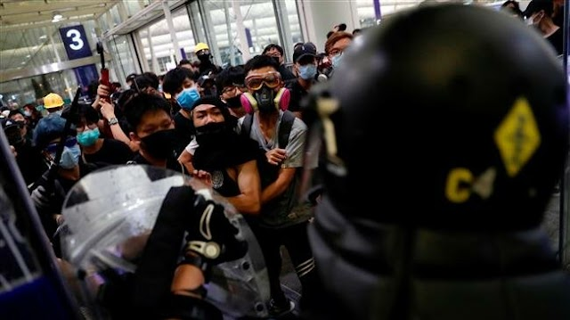 China's Hong Kong and Macao Affairs Office condemns 'near-terrorist acts' at Hong Kong airport