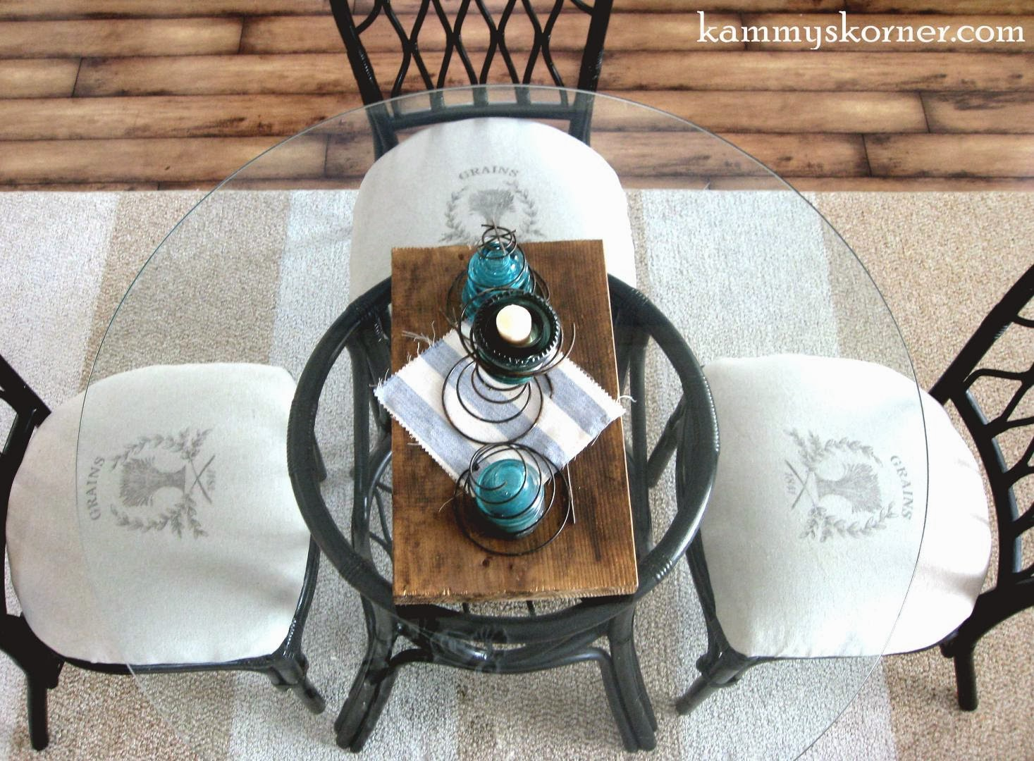 Kammy's Korner: Rattan Dining Chairs Makeover {Image