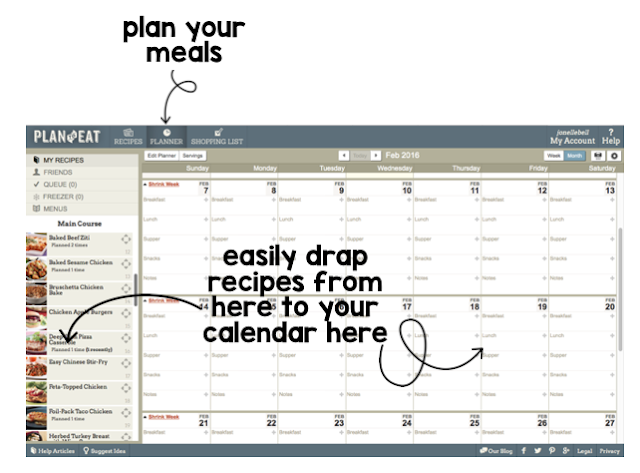 This tired teacher time saver will help you organize your recipes, plan a week of meals for your family and produce an organized grocery list. Organize your recipes in one spot and share them with your friends. Make meal planning easier so that you have time to grade papers…or take a nap.