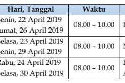 Jadwal USBN SD, SMP, SMA Tahun Pelajaran 2018/2019