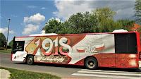 Grafika na autobusie - 100 lat odzyskania niepodległości