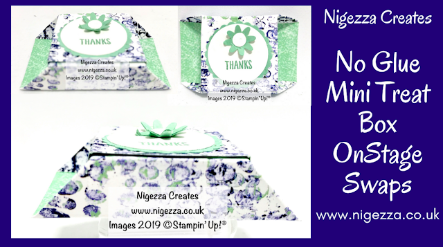 No Glue Mini Treat Box Stampin' Up! Nigezza Creates