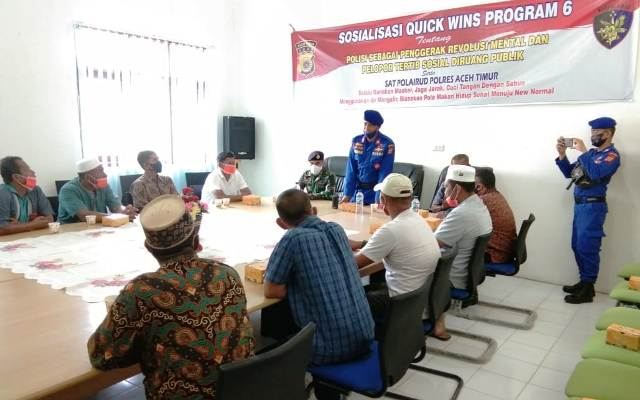 Satpolair Polres Aceh Timur Sosialisasikan Program Quick Wins Kepada Panglima Laot