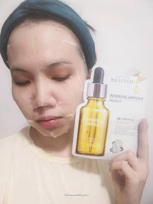 Review; Beyond Intensive Ampoule Mask (Propolis)