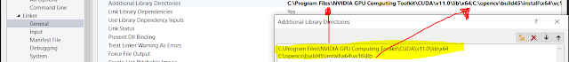 Opencv cuda configuration visual studio