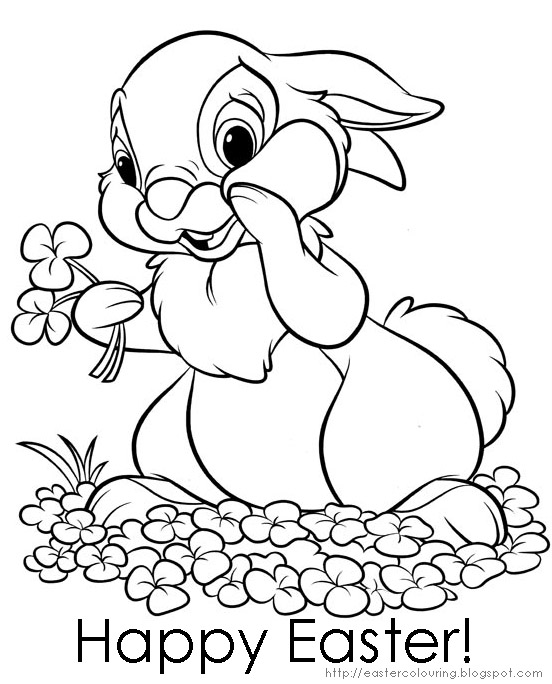 easter bunny coloring in pages | EASTER COLOURING: COLORING PICTURES OF EASTER BUNNY