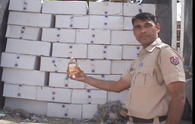 140 bags of English liquor recovered for smuggling in Faridabad