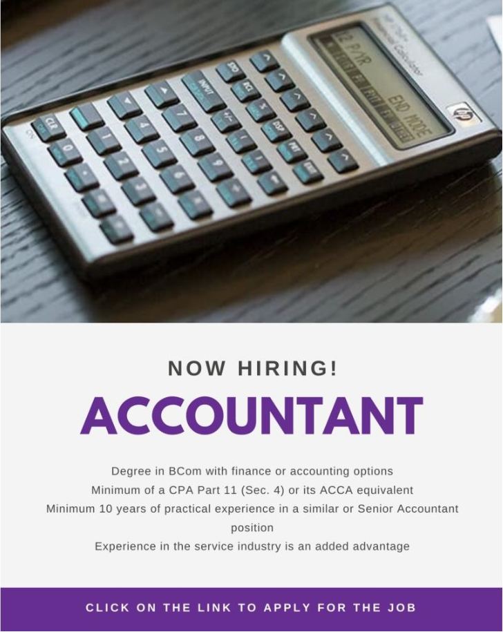 Now Hiring Accountants