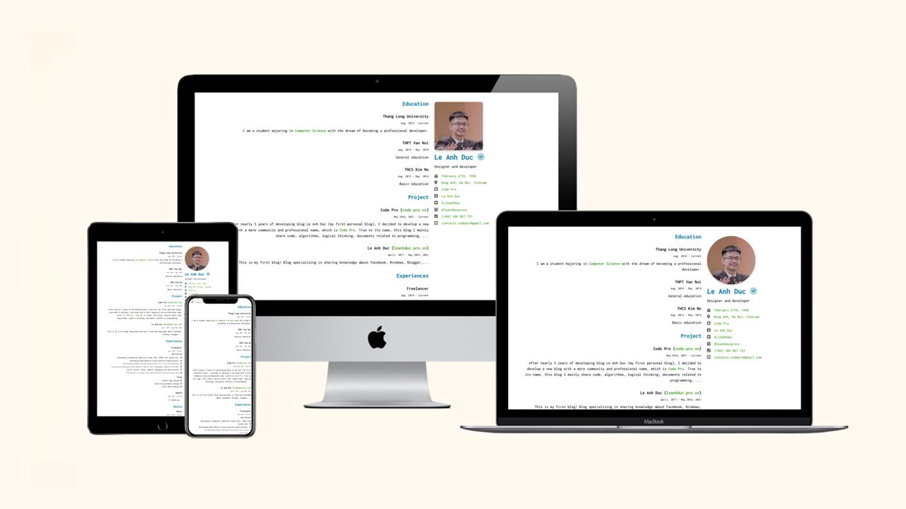 Share template giới thiệu bản thân version 2.1 (RTL mode)