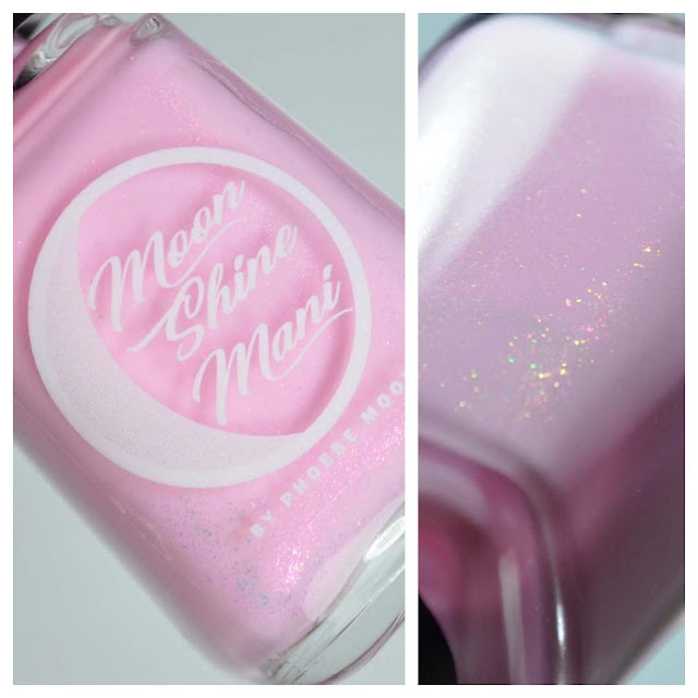taffy pink nail polish with shimmer