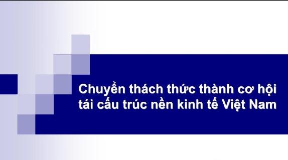 Thực trạng cơ cấu kinh tế, tái cấu trúc nền kinh tế, Việt Nam