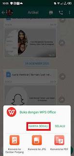 Cara Membuka File Docx di WhatsApp Android