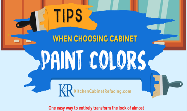 Tips When Choosing Cabinet Paint Colors #infographic