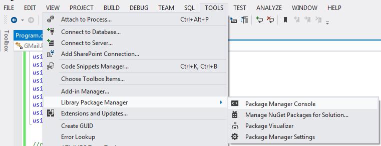 Jiajie's tech blog: Gmail API for C#