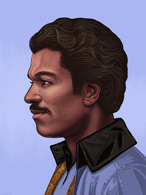 Star Wars Lando Calrissian Portrait Print by Mike Mitchell x Mondo