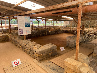 Varignano Roman Villa - example of ruins protected by roof 2