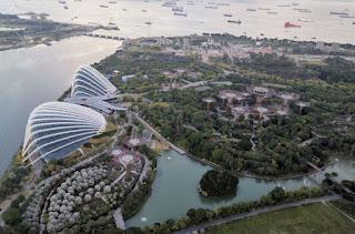 Gardens by the Bay desde el Sands SkyPark del Marina Bay Sands Hotel