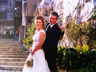 Angela and Raffaele on their wedding day
