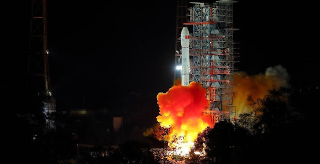 China launches Chang'e-4 lunar probe in the Xichang Satellite Launch Center in southwest China's Sichuan Province, Dec. 8, 2018. Credit: Xinhua/Jiang Hongjing