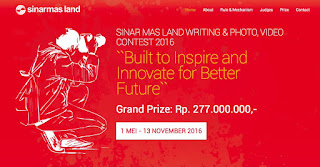 SINAR MAS LAND WIRITING & PHOTO, VIDEO CONTEST 2016