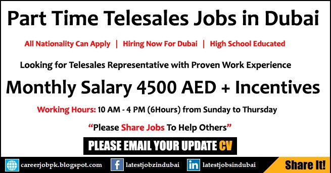 Part Time Telesales Jobs in Dubai
