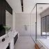 Banheiro contemporâneo grande com cores sóbrias, banheira e jardim de inverno!