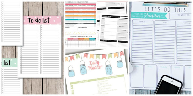 7 free pinterest printables to get yourself organised
