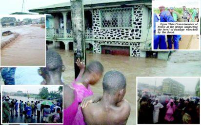 5 people were killed in Abeokuta, Ogun Flood and destroys property