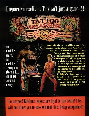 Tattoo Assassins+arcade+game+portable+retro+fight+art+flyer