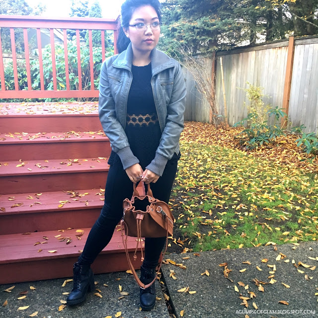 Gamiss Review Brown Bucket Bag - Andrea Tiffany A Glimpse of Glam