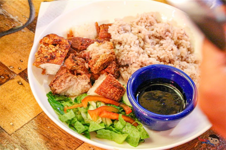Lechon Kawali Rice Meal of Flotsam & Jetsam, La Union