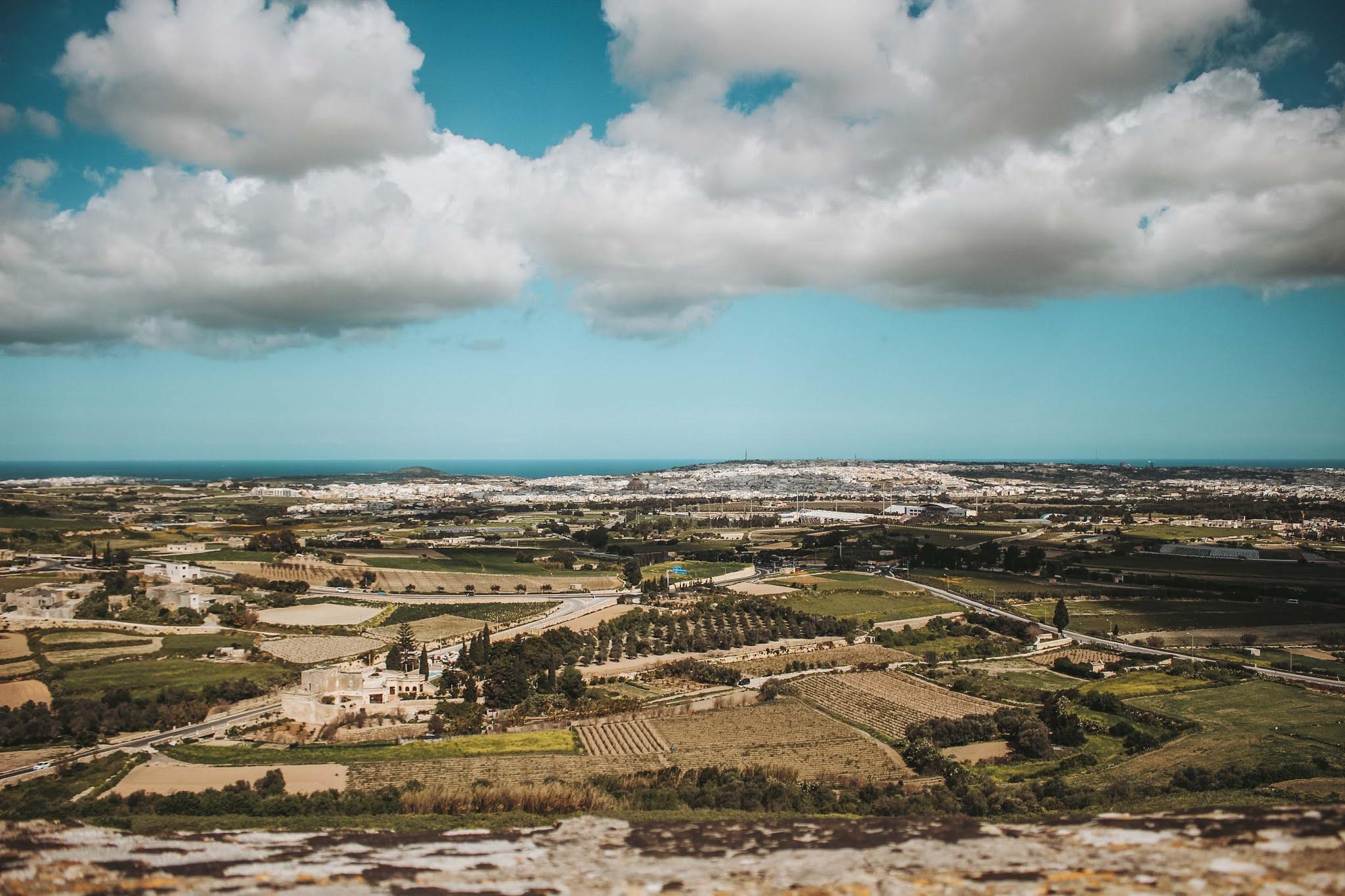 Malta AUssicht Mdina