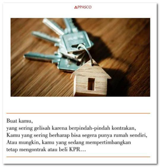 Sering pindah-pindah rumah kontrakan